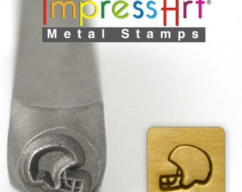 Football Helmet Metal Stamp ImpressArt- 6  mm  Metal Design Stamp-Perfect for Your Hand Stamping Needs-Steel Stamps