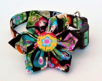 Adjustable Dog Collar Flower Set- Nesting Doll- Made to order.