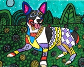 50% OFF-Rat Terrier art dog  Art Print Poster by Heather Galler by Heather Galler (HG797)