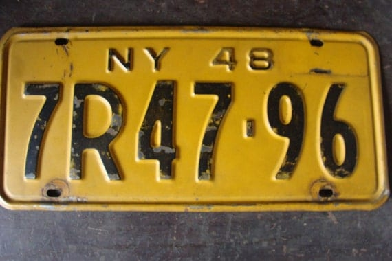 Vintage license plate new york Etsy