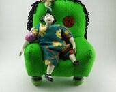 VERY Green Pincushion Chair
