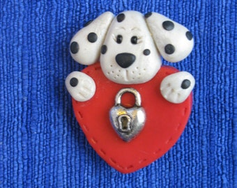 Dalmation Valentine Pin