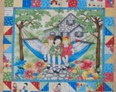 An Adorable Little Darlings Child's Play Fabric Panel Free US Shipping