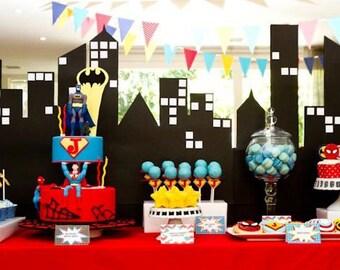 Superhero Comic Book Birthday Printable Party - DIY - SALE!!!