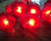 20 Large Red Rose Flower Fairy Lights 4 metres