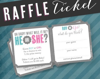 He or She. Gender Guess Baby Shower Raffle Tickets by Tipsy Graphics. Bring a Book. Diaper Raffle.