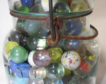 Digital Download Marbles VINTAGE CANNING JAR Fine Art Photo Digital Download