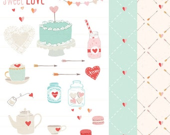 CLIP ART - Sweet Love - for commercial and personal use