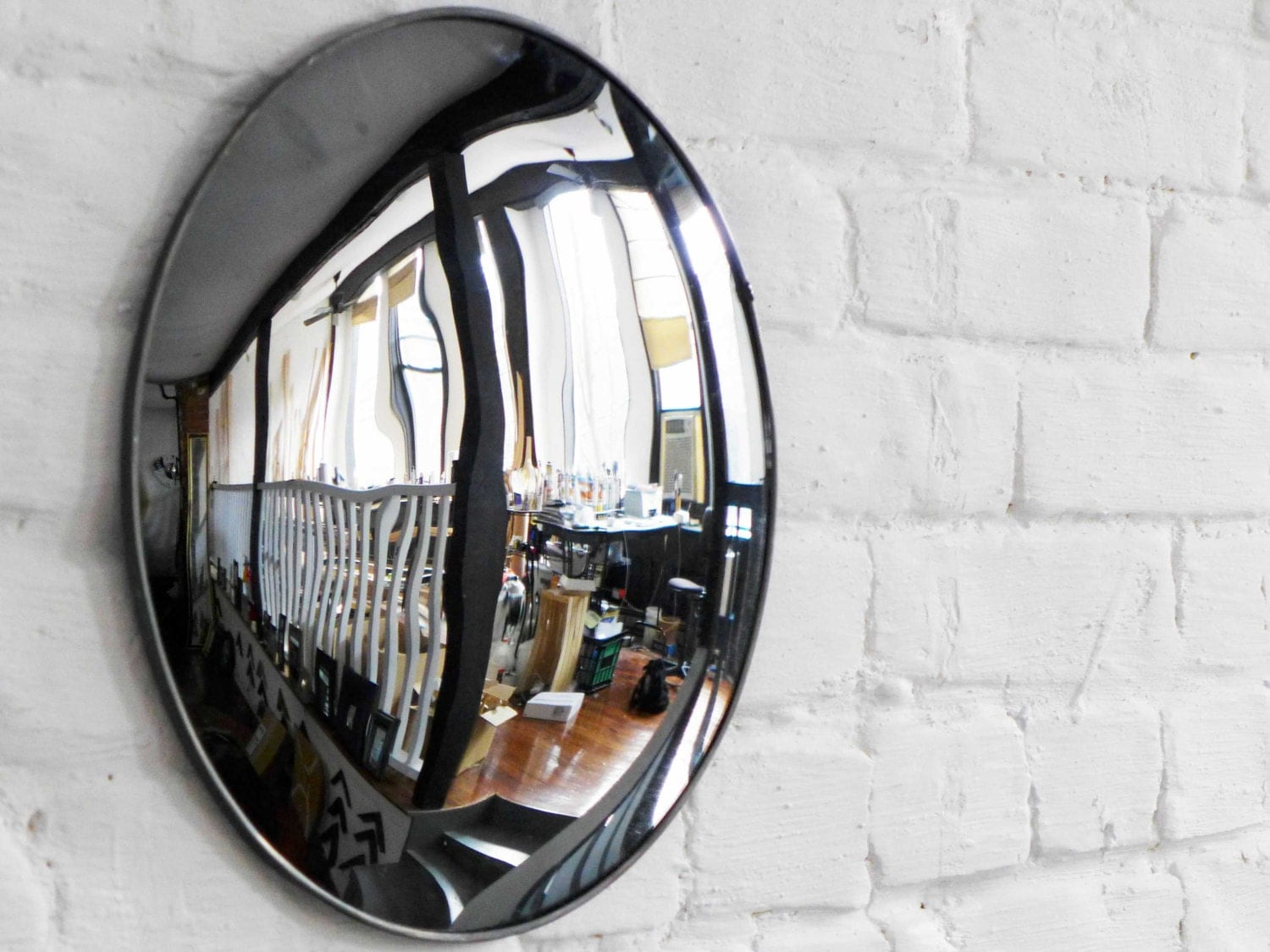 round convex mirror 12 1 2 diameter. Black Bedroom Furniture Sets. Home Design Ideas