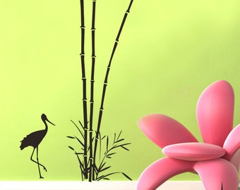 Waterfowl Bamboo----Removable Graphic Art wall decals stickers home decor