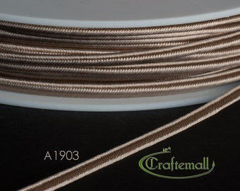 Soutache braid - Rayon flat 3mm soutache cord - champagne (A1903) - 5 meters