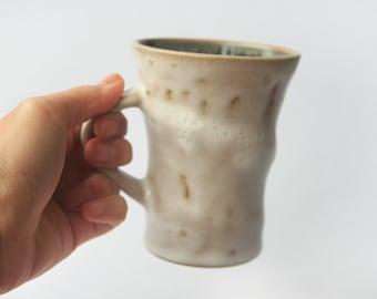 Coffee Mug - wheel thrown with shino glaze