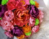Handmade Paper Flower Wedding Bouquet - Customize your Style and Colors - Made To Order