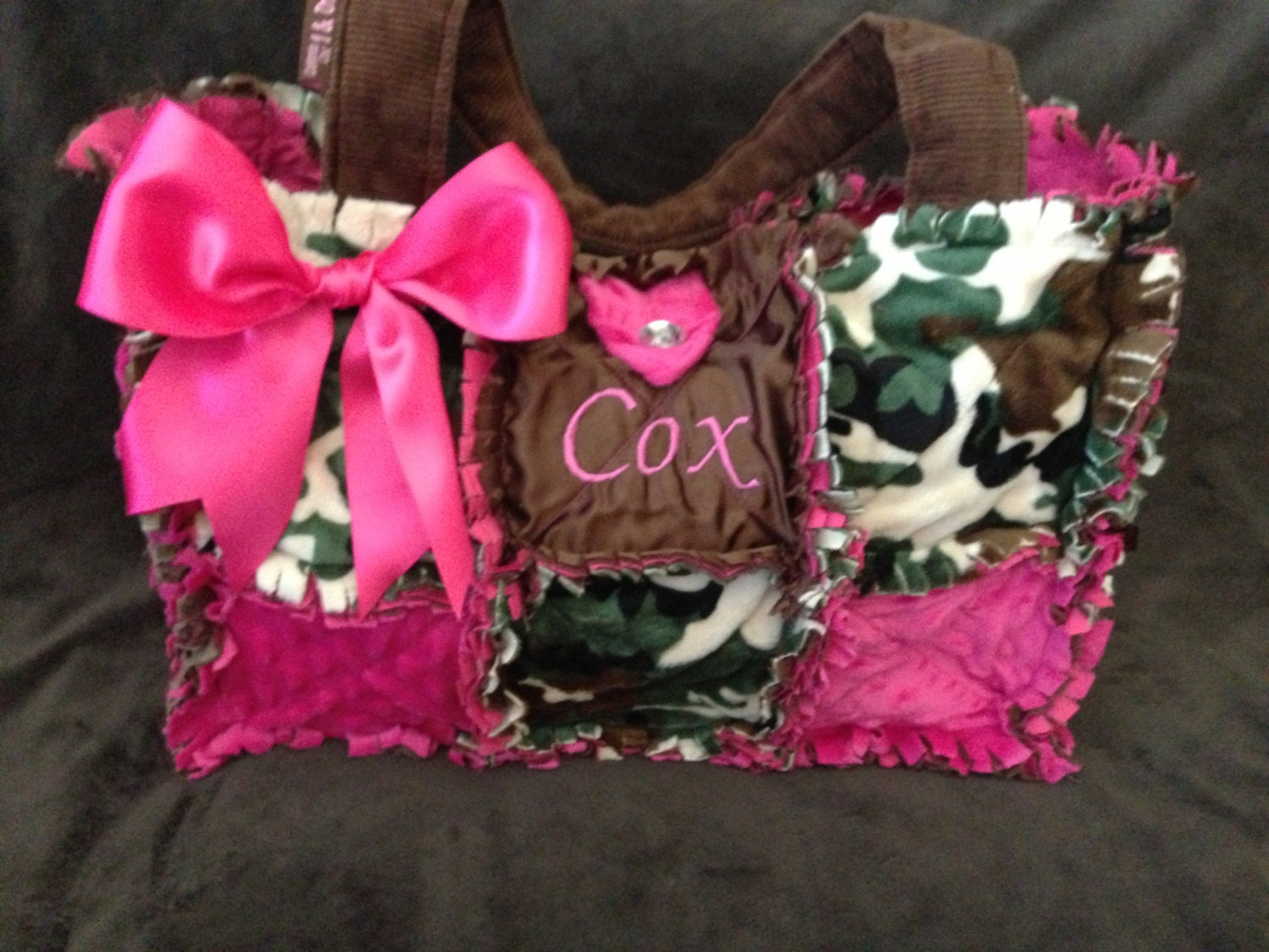 New Camo Hot Pink Rag Quilted Diaper Bag handbag Purse for : quilted camo diaper bag - Adamdwight.com