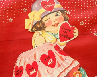 Vintage Collectible Mechanical Valentines Card