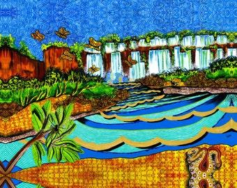 Iguazu giclée print 11 x 14 ready to hang