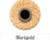 Marigold - Golden Orange-Yellow and White Baker's Twine by The Twinery - 240 yards