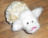 Dream Ambassador (Natural Fleece Needle Felted Sheep)