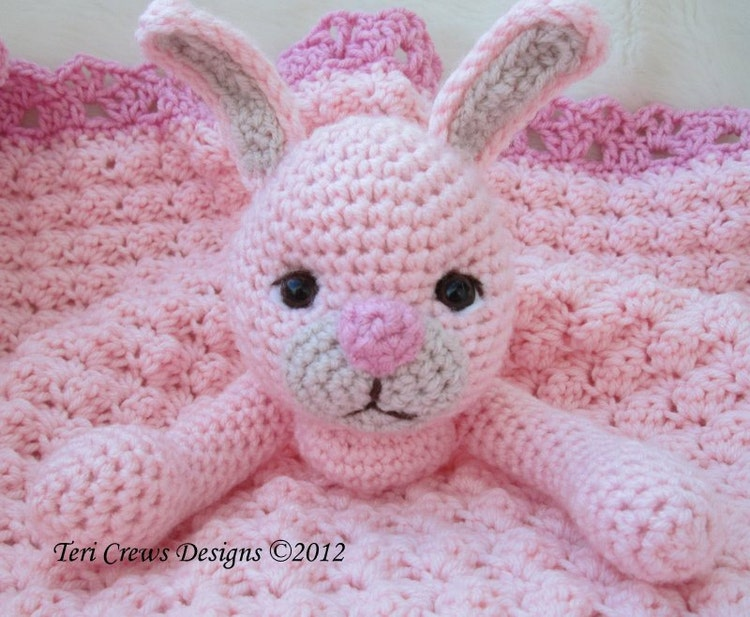 Free Crochet Pattern Huggy Blanket : Crochet Pattern Bunny Huggy Blanket by Teri Crews by ...