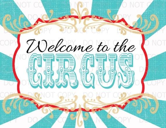 circus sign template - photo #26