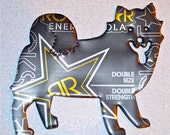 It's a Dogs Life--Recycled Soda Can Art-  Recycled-Large Dog Magnet