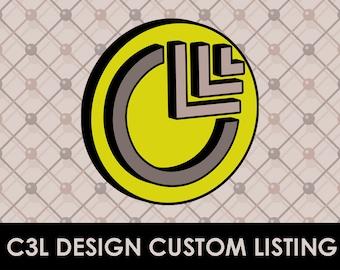 Custom Listing for ashleyanderson (1 custom save the date)