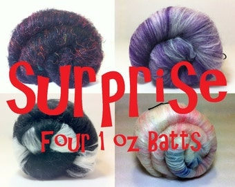 Surprise Mini Fiber Batt Sets 4 batts, 4 oz total