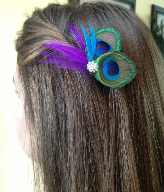 Peacock Wedding-Peacock hair-piece-Customize to your colors