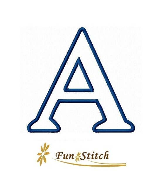 Greek applique font letters machine embroidery design by