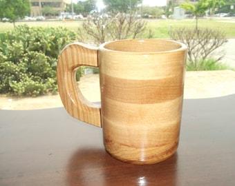 Handcrafted Wood Coffee 8oz Mug Hickory - Coffee Cup - Wood Coffee Mug - Coffee Mug - Hickory Mug