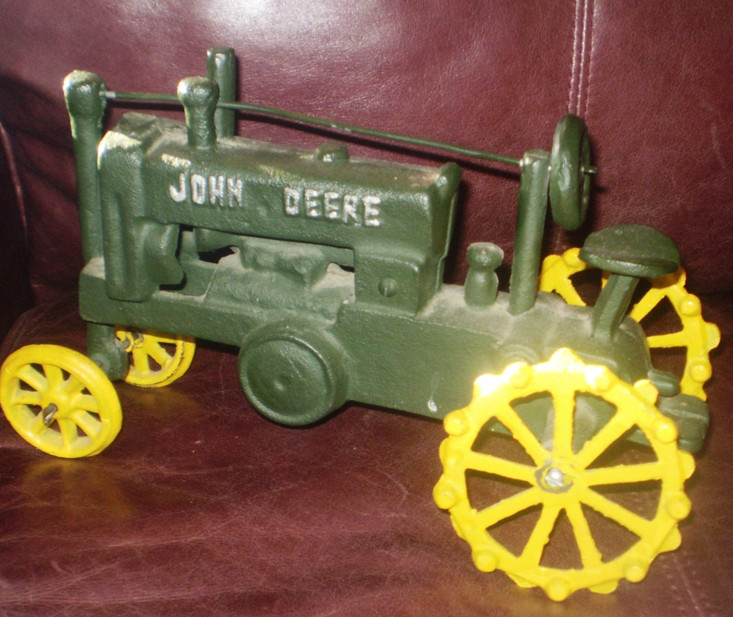 Collectors Vintage John Deere Tractors : Antique vintage cast iron john deere tractor by