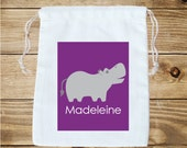 Hippo Personalized Favor Bag