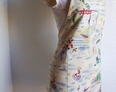 Adult Apron - Full Bib Apron - A Tropical Delight, great for cooking, painting, or creating arts and crafts