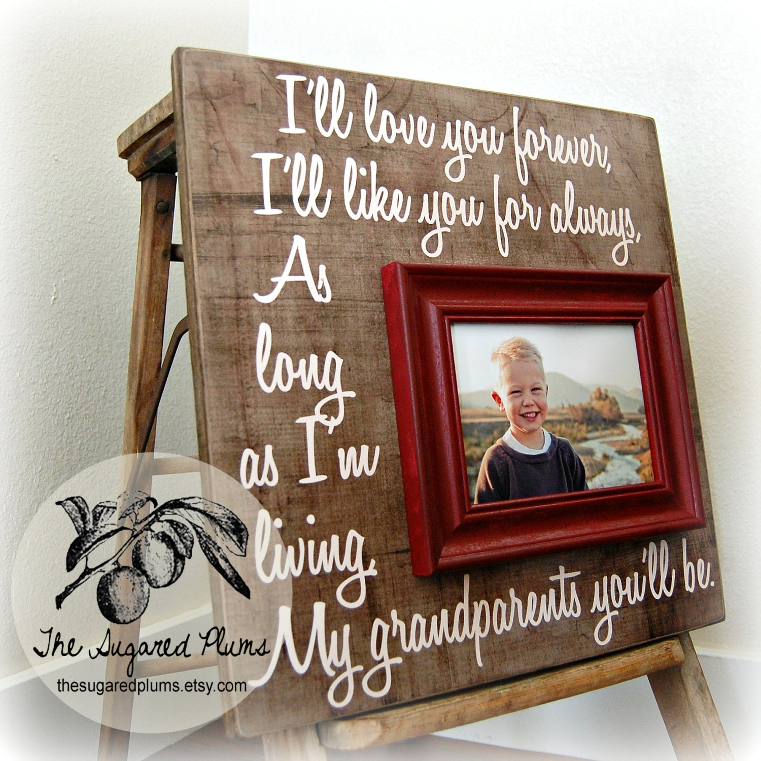 Grandparents Gift Mothers Day Gift Personalized Frame 16x16