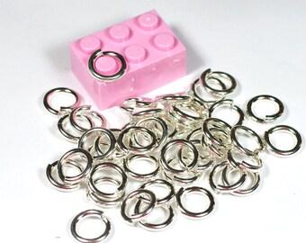 14g 6.5mm ID 9.8mm OD sterling jump rings -- 925 jumprings 14g6.50 links