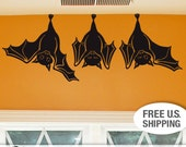 Animal Wall Decal: Cute Hanging Bats, not just for Fall Decorations, Hanging Bats Wall Decal
