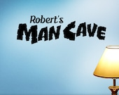 Personalized Man Cave Sign, Custom Name Wall Decor, Vinyl Wall Decal (0171d2v)