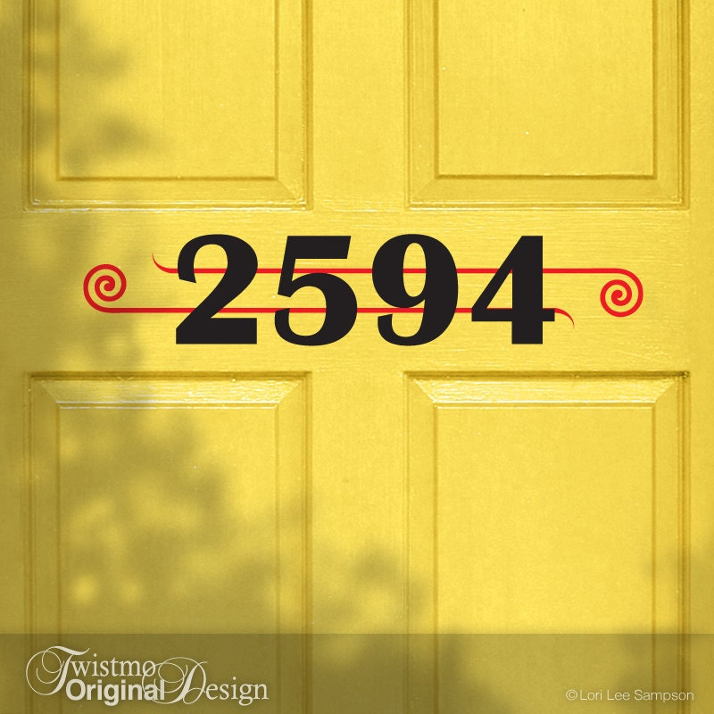 Art Deco Decorative House Numbers Custom House Numbers Vinyl - Custom vinyl decals numbers