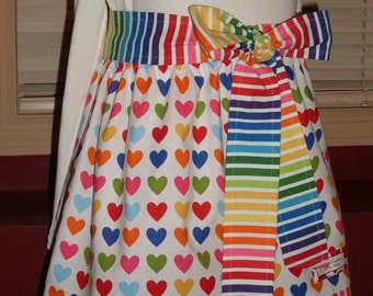 Buy Any 2 Skirts and Get 1 FREE, Queen of Hearts Skirt, Size 2, 3, 4, 5, 6, 7, 8, 9, 10, and 12