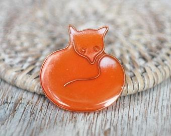 Funny brooch - Red Fox