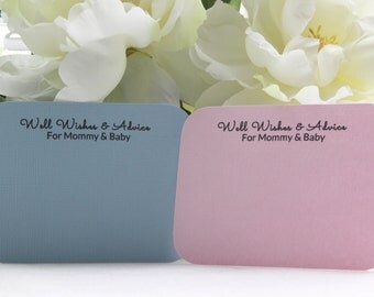 50 Baby Shower Well Wishes & Advice Cards