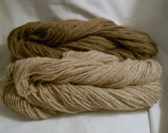 Handspun Brown Icelandic and Alpaca Yarn