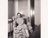Vintage Photo - Lady Sitting in a Chair, Vernacular, Ephemera  (HH)