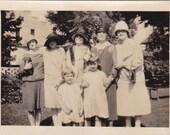 Ladies in Hats with Children - Vintage Photograph (TT)