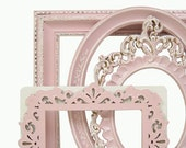 Shabby Chic Frames Fresh Pastel Pink Picture Frame Set Ornate Frames Wedding Home Decor - MountainCoveAntiques