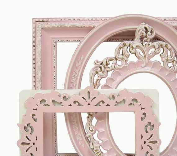 Shabby Chic Frames Fresh Pastel Pink Picture Frame Set Ornate Frames Wedding Home Decor