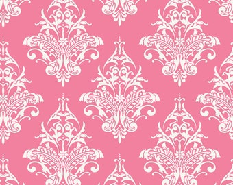 Remember Pink Damask by Carina Gardner for Riley Blake, 1 yard