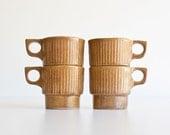 Vintage Mid Century Modern Monmouth Pottery Mugs