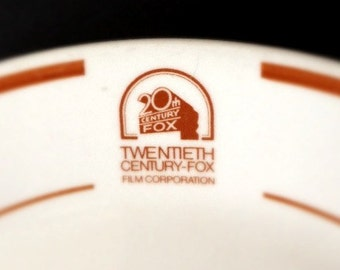 20th CENTURY FOX Film Studios China, from the Commissary, Rare and Collectible -- 6 Salad Plates
