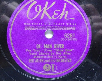 "Rare Red Allen and his Orchestra 10"" 78 Vinyl Soundtrack (1941) Fox Trot, Show Boat - Very Good Condition"